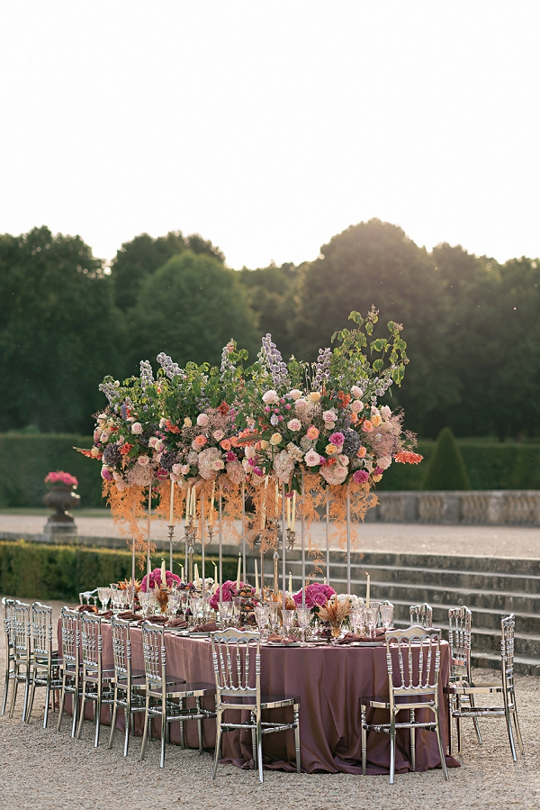 Chateau Vaux le Vicomte wedding styling