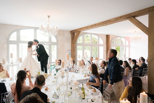 Chateau de Courcelles le Roy wedding dinner