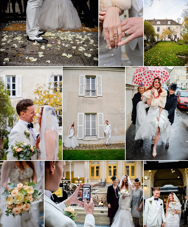 Musee de Montmartre wedding in Paris Snapshot