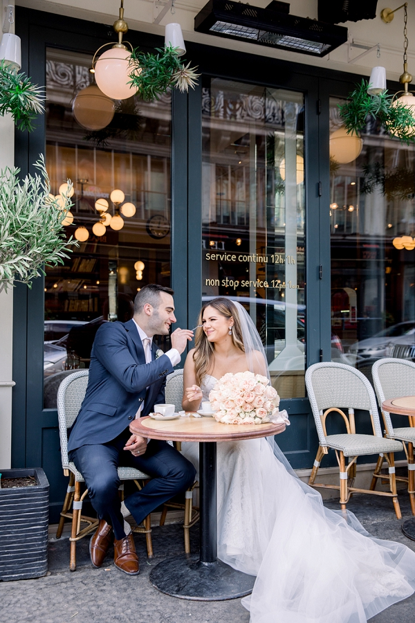 Parisian Cafe elopement photo