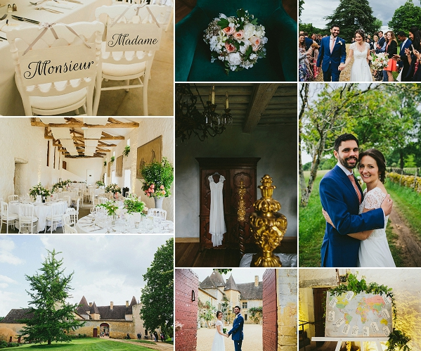 Real wedding at historic Chateau in France Snapshot