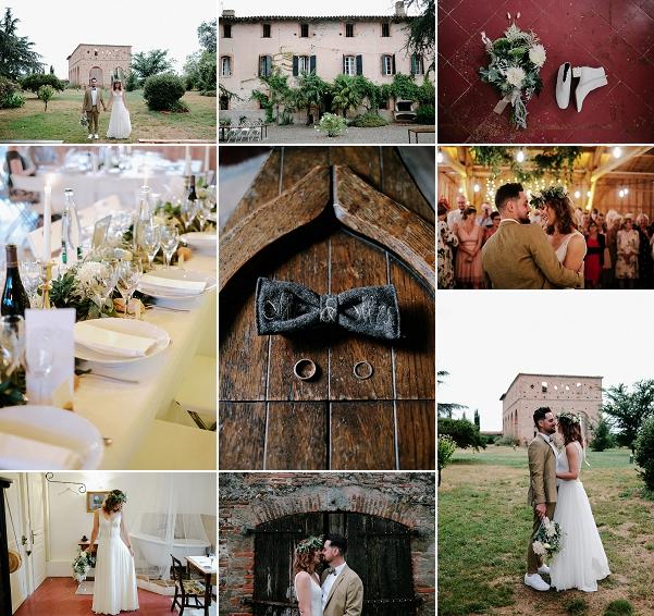 Rustic Domaine du Beyssac wedding Snapshot