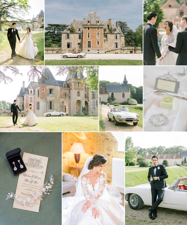 Stunning Chateau de Courcelles le Roy wedding snapshot