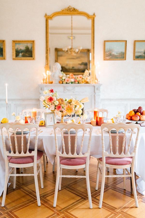autumnal wedding styling