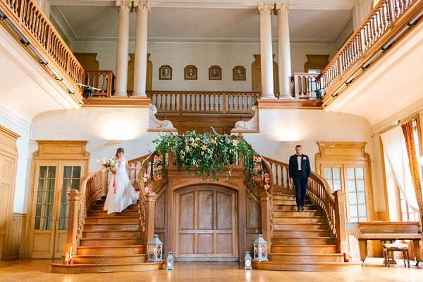 chateau de Moulinsard staircase