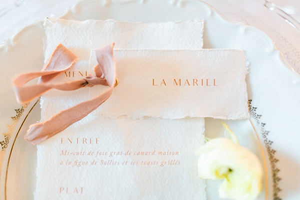 chic wedding stationery
