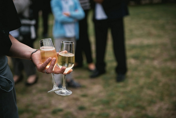 cocktail hour wedding in Loire Valley