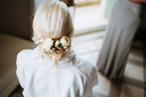 florals wedding hair