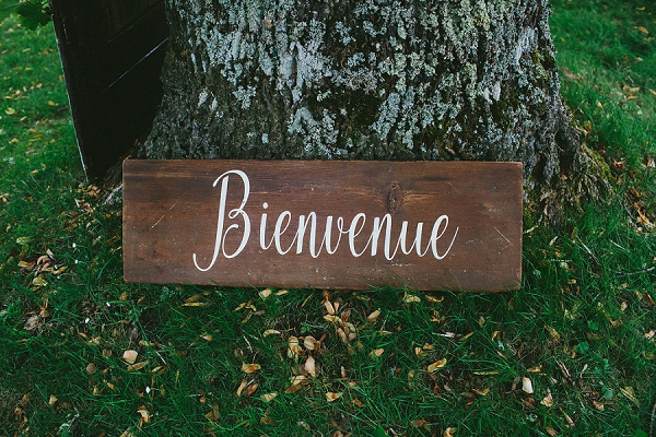 french wedding welcome sign