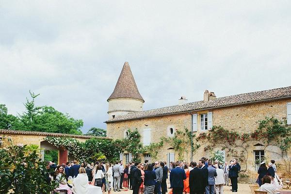 historic Chateau wedding reception