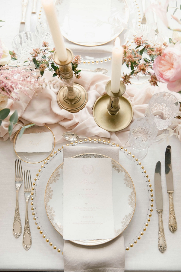 luxury place setting wedding