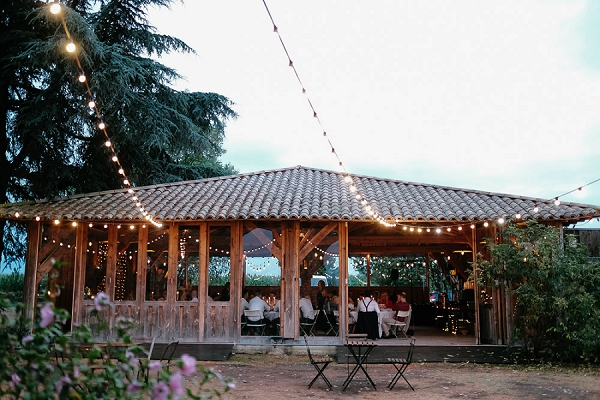 outdoor wedding breakfast