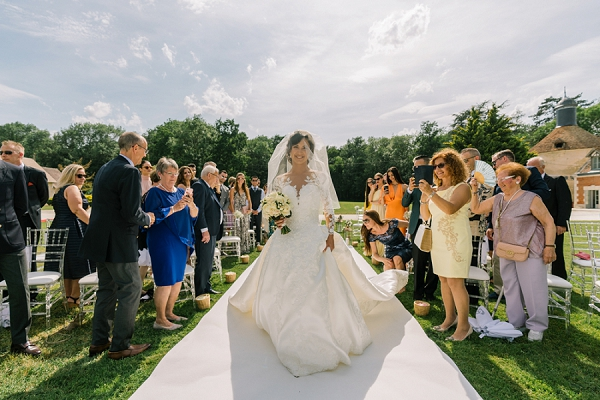 outdoor wedding near paris