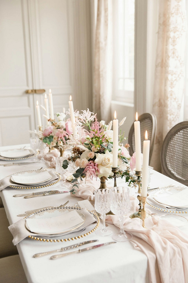 pastel wedding florals