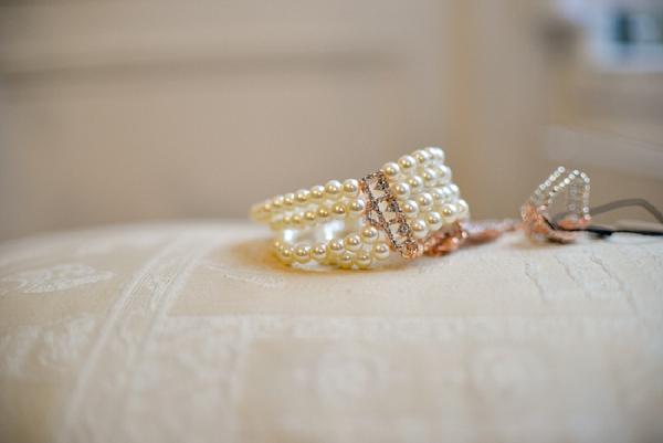 pearl wedding bracelet