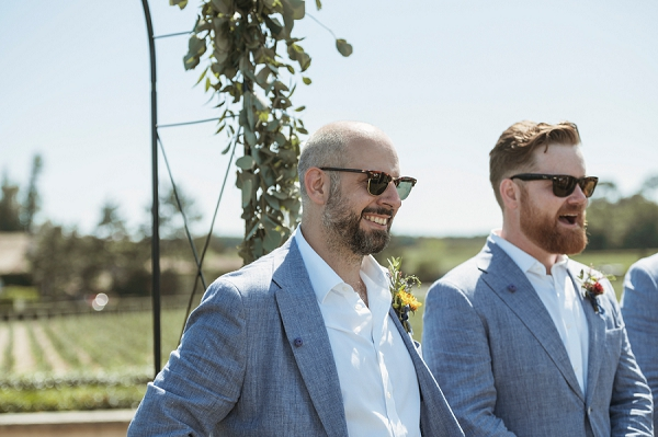relaxed groom look