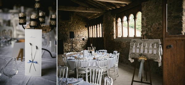 rustic wedding breakfast in Loire Valley