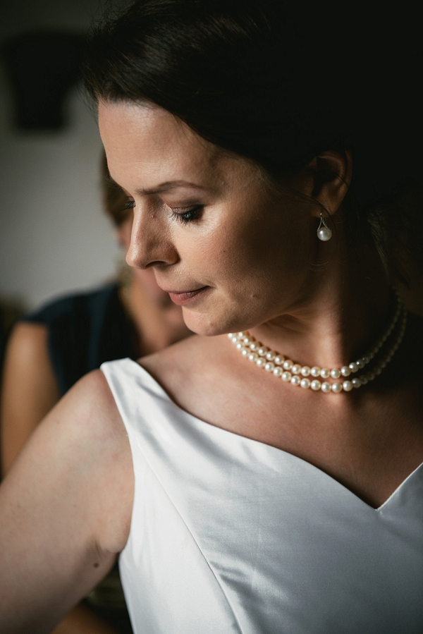 wedding day pearls