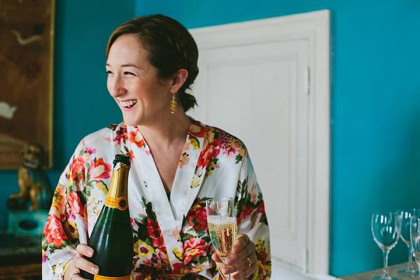 wedding morning champagne