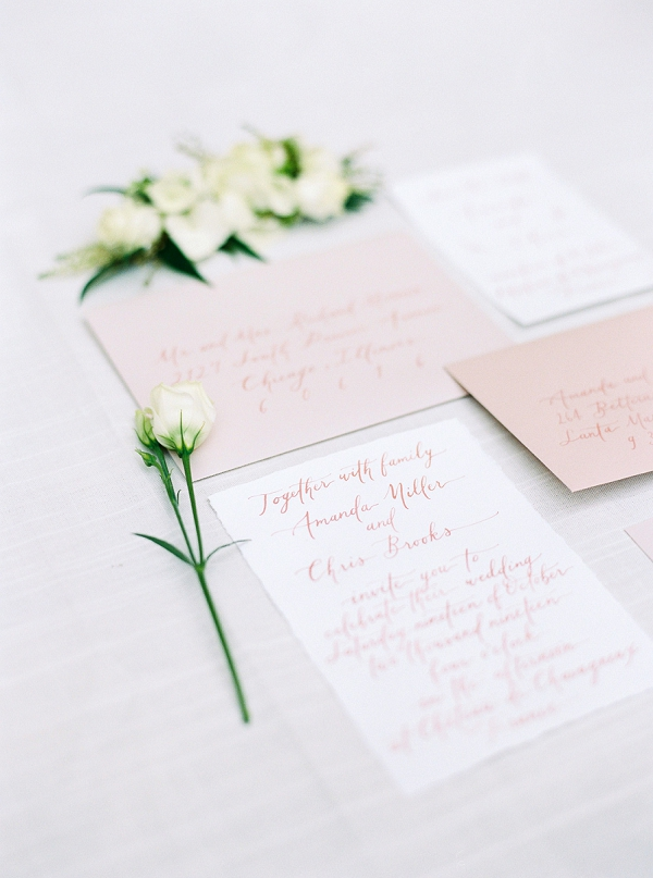 wedding stationery calligraphy