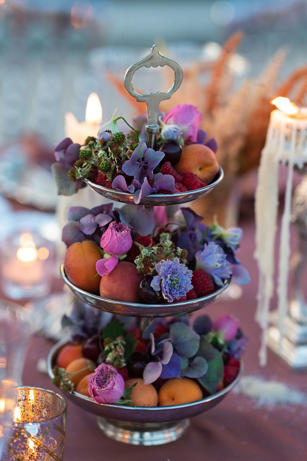 wedding table edible decor