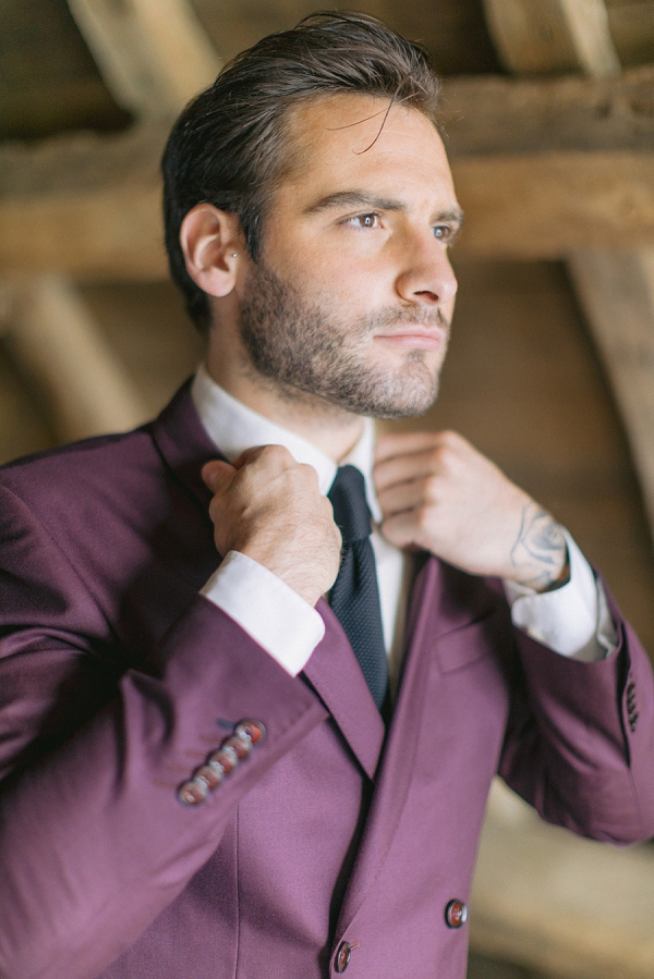 Burgundy wedding attire