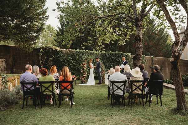Chateau Terre Blanche intimate wedding