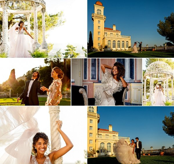 Cote D'Azur wedding inspiration at Chateau Saint Georges Snapshot