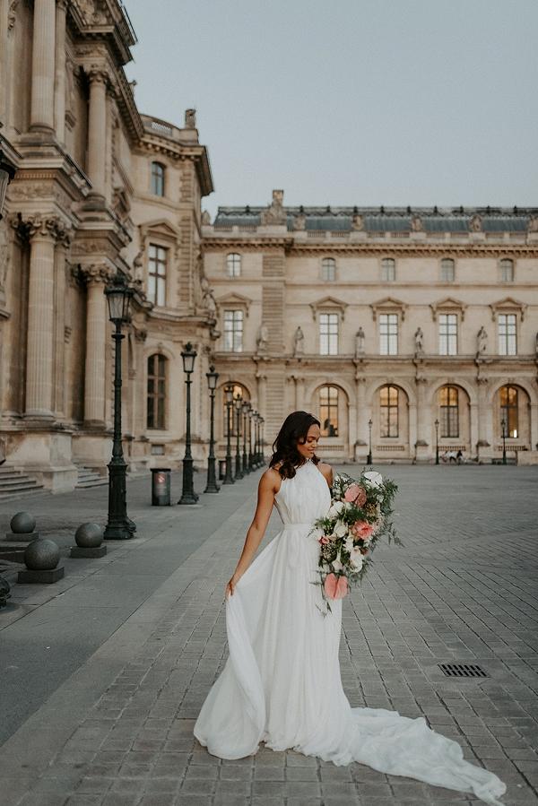 Louvre Carol Hannah Bridal shoot
