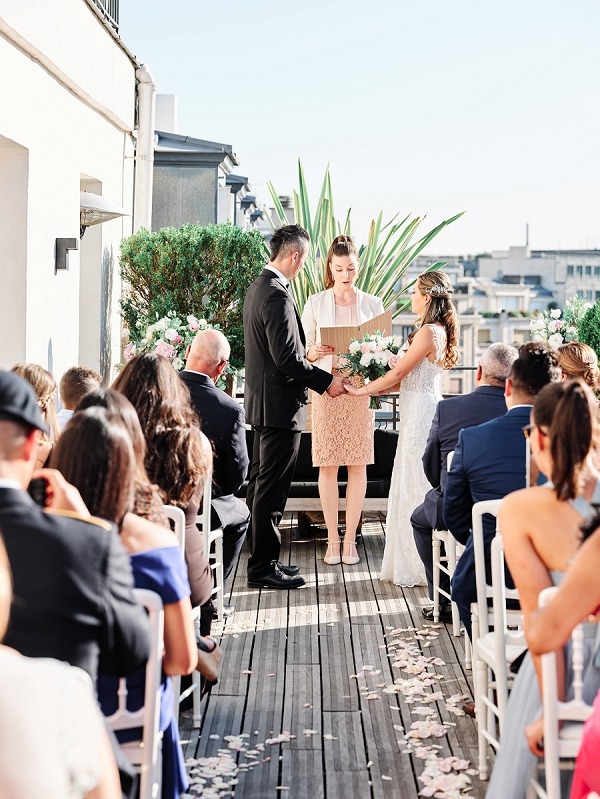 Outdoor Paris destination wedding