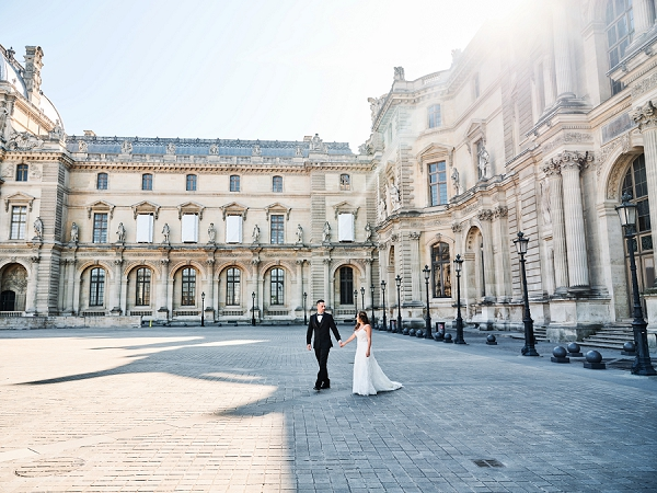 Paris destination wedding photos