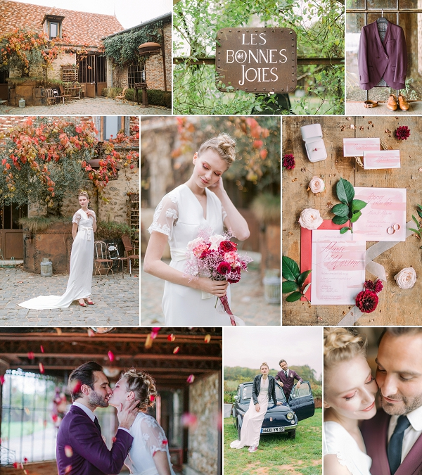 Pastel & Burgundy wedding Inspiration Snapshot