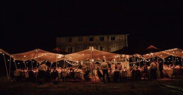 SNAZZY CAMP STRETCH TENT 200M2 LA MAYOU BIARRITZ WEDDING TENT