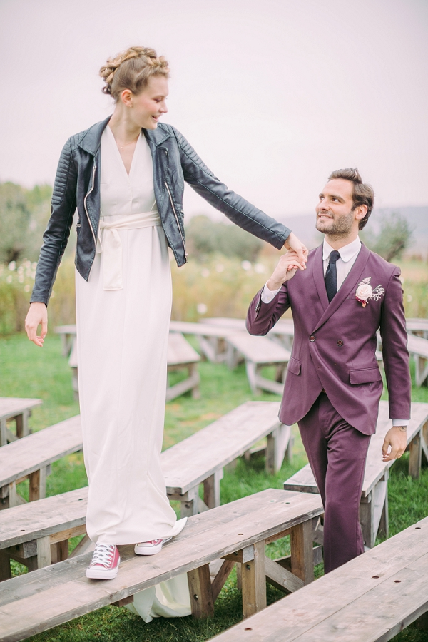 black leather jacket wedding