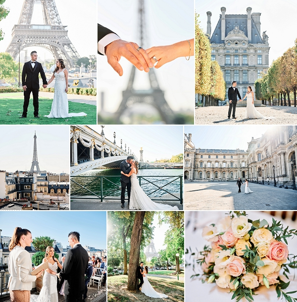 elegant and romantic Paris destination wedding snapshot