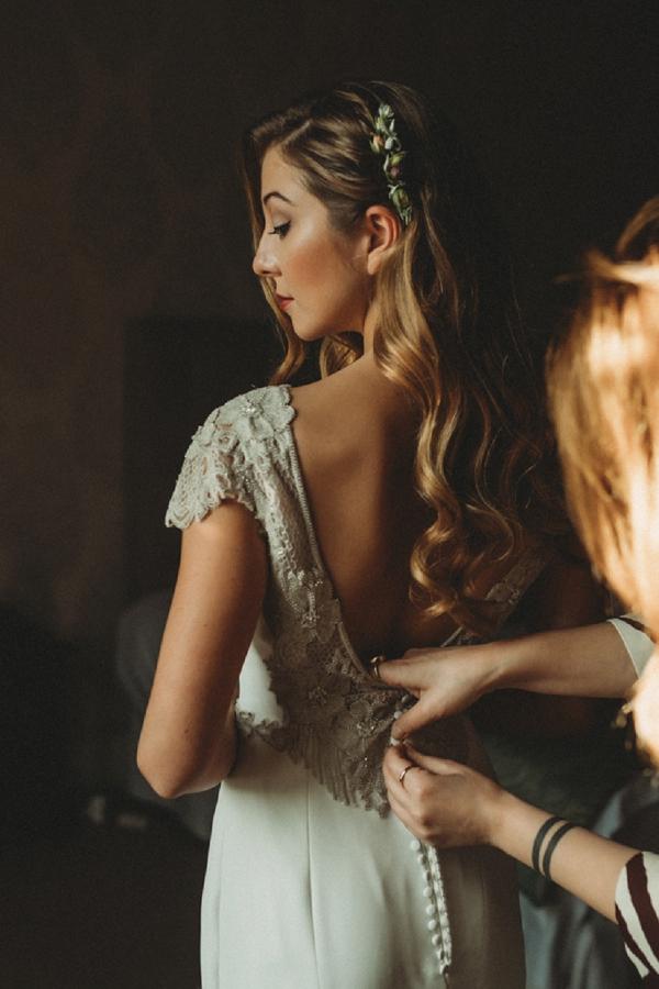 glamorous bridal gown