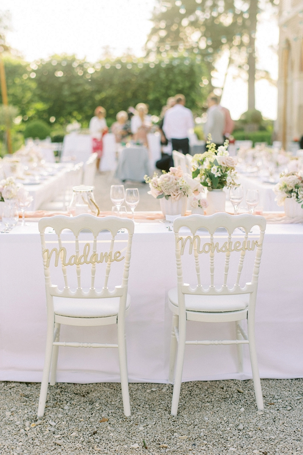 madame et monsieur wedding chairs