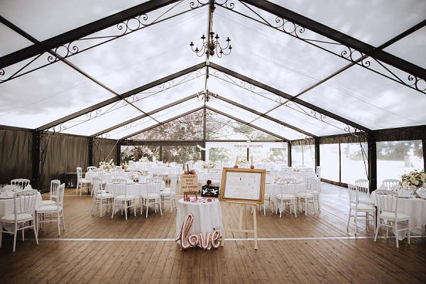 marquee wedding at Chateau de Carsix