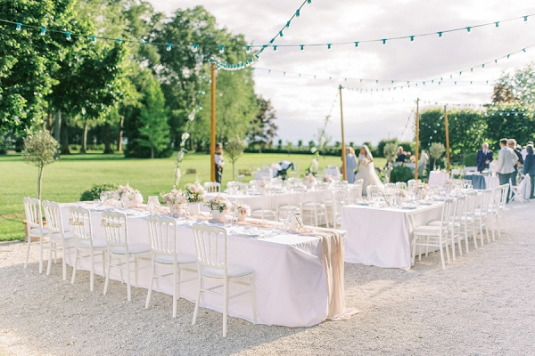 outdoor wedding at Château de Varennes