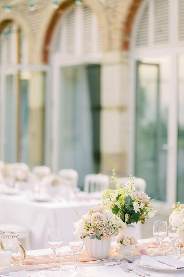 pastel pink wedding details
