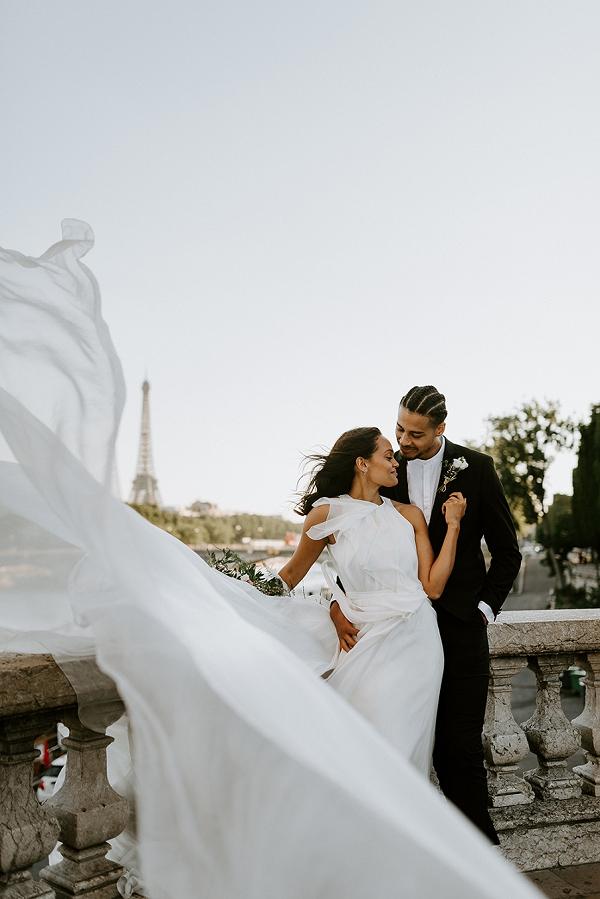 stunning floaty wedding gown