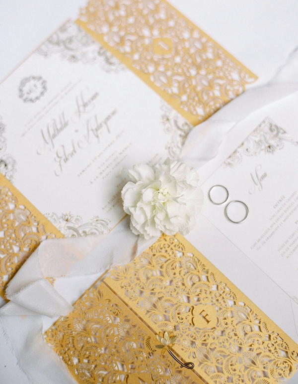 stylish wedding invite
