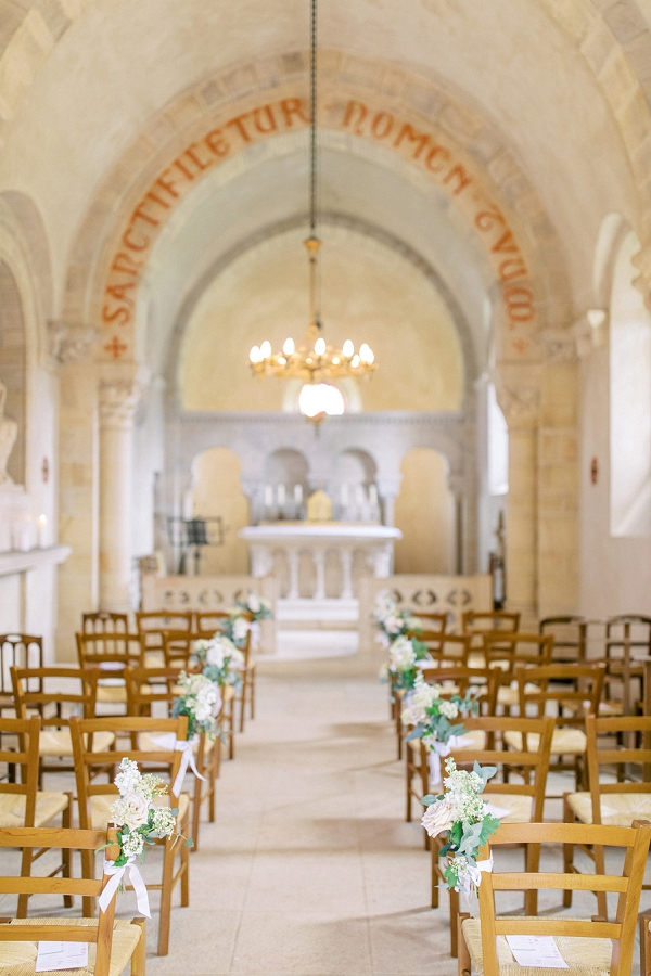 wedding at Château de Varennes chapel