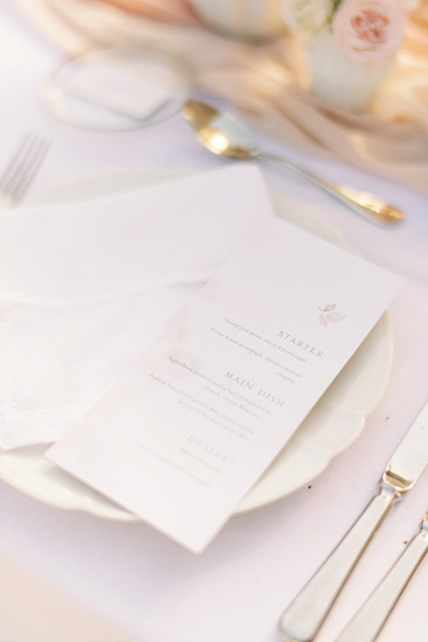 wedding menu France