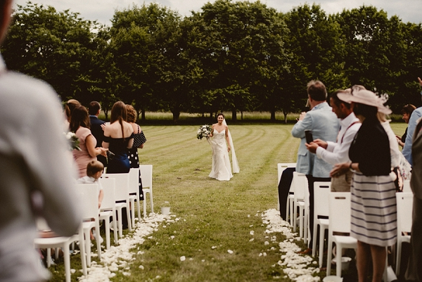 chateau saint martory outdoor wedding ceremony idea