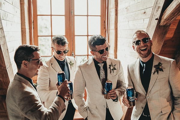 cream groomsmen attire