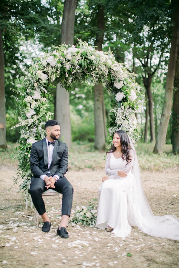 floral arch outdoor ceremony