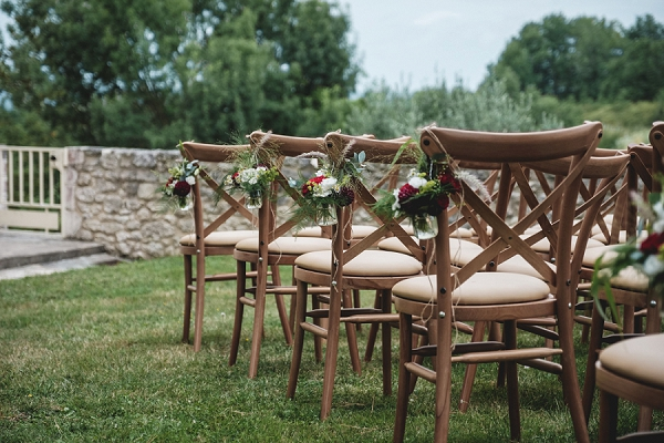 outdoor Dordogne wedding ceremony