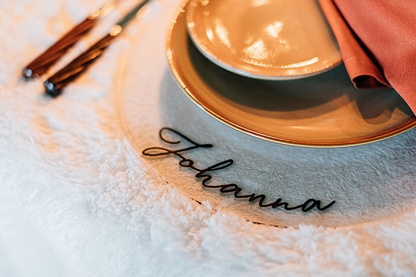 personalised wedding table elements