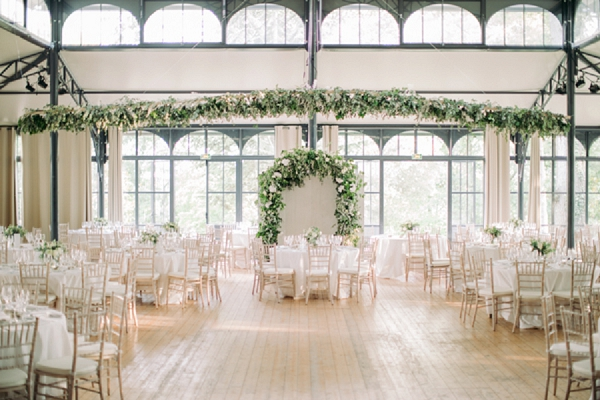 white and green wedding colours